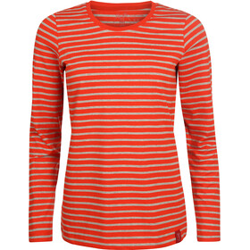 Elkline Hummel - Camiseta de manga larga Mujer - gris/rojo